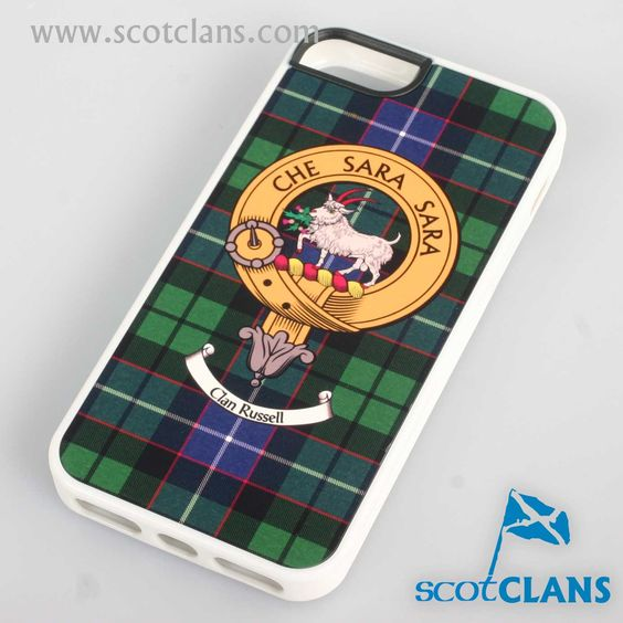Russell Tartan and Clan Crest iPhone Rubber Case - 4 - 7