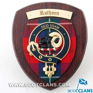 Ruthven Clan Crest Plaque