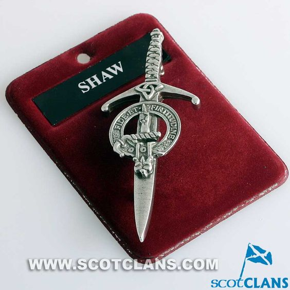 Clan Crest Pewter Kilt Pin with Shaw Crest