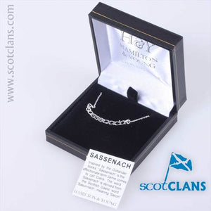 Outlander Inspired Sassenach Silver Necklace