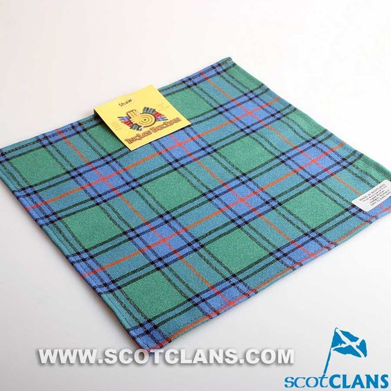Pocket Square in Shaw Ancient Tartan