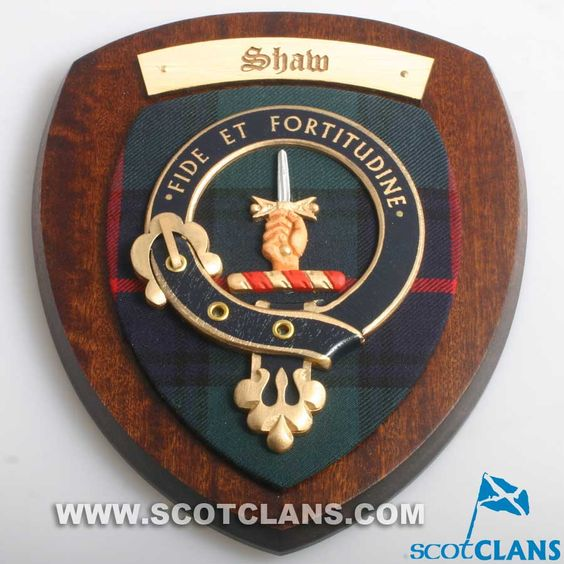 Shaw Clan Crest Plaque