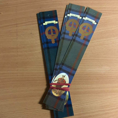 Shaw Clan Bookmarks 5 Pack