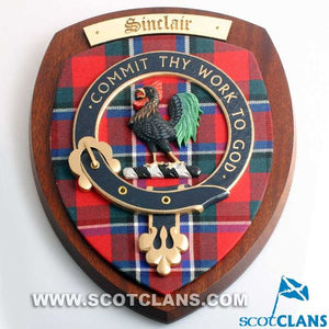 Sinclair Clan Crest Plaque