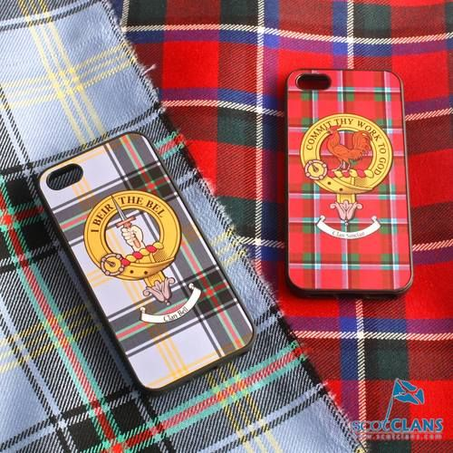 Sinclair Tartan and Clan Crest iPhone Rubber Case - 4 - 7