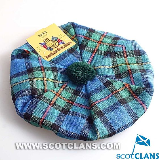 Pure Wool Golf Cap in Smith Ancient Tartan