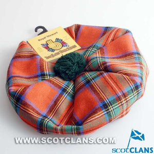 Unisex Wool Tam in Royal Stewart Ancient Tartan