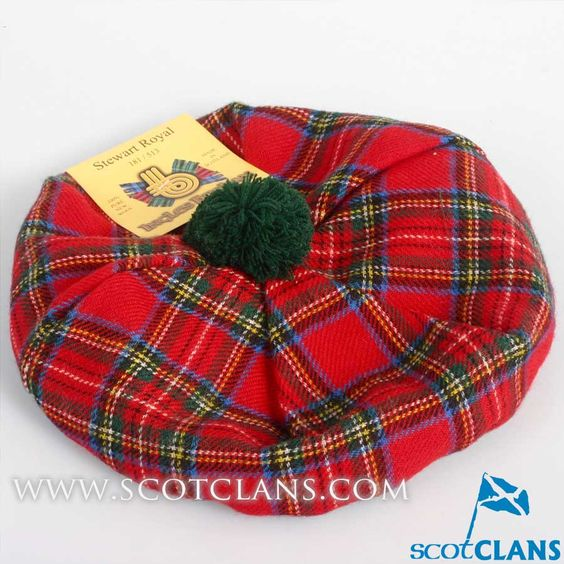 Unisex Wool Tam in Royal Stewart Modern Tartan
