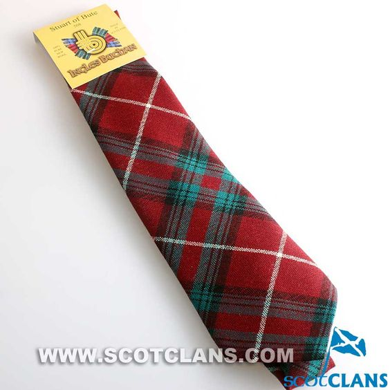 Pure Wool Tie in Stuart of Bute Tartan