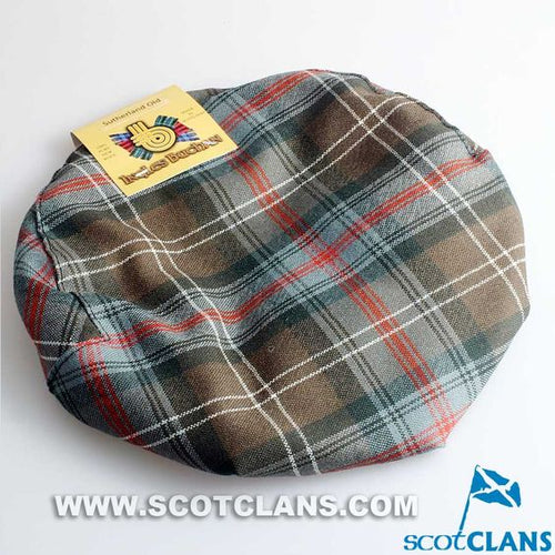 Pure Wool Golf Cap in Sutherland Weathered Tartan