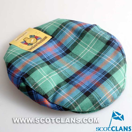 Pure Wool Golf Cap in Sutherland Ancient Tartan