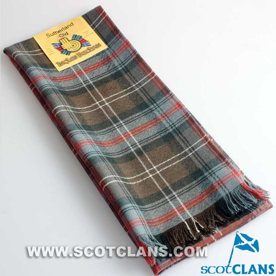Wool Scarf in Sutherland Weathered Tartan