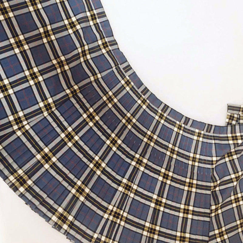 Thomson Blue Polyviscose Kilted Skirt
