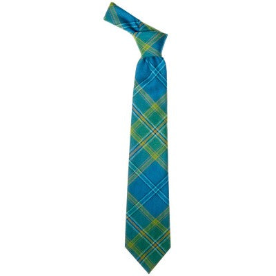 Pure Wool Tie in All Ireland Blue Tartan