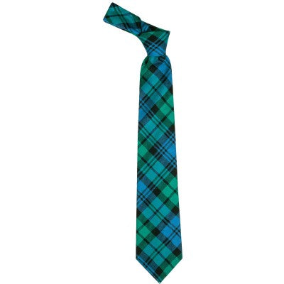 Pure Wool Tie in Black Watch Ancient Tartan