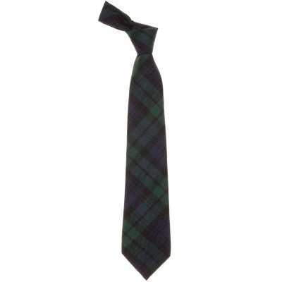 Pure Wool Tie in Black Watch Modern Tartan