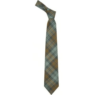Pure Wool Tie in Black Watch Weathered Tartan