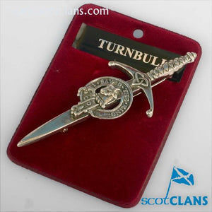 Clan Crest Pewter Kilt Pin with Turnbull Crest