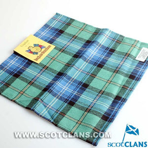 Wool Tartan Pocket Square in Urquhart Ancient Tartan