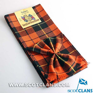 Wool Tartan Mini Sash in Wallace Ancient Tartan