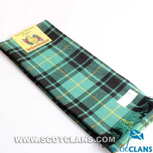 Wool Scarf in Wallace Hunting Ancient Tartan