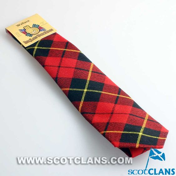 Pure Wool Tie in Wallace Modern Tartan