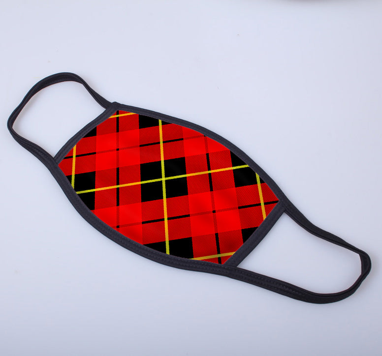 Wallace Tartan Printed Face Mask
