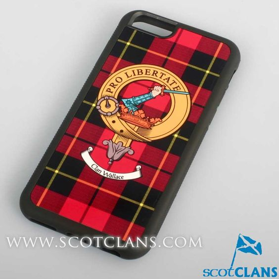 Wallace Tartan and Clan Crest iPhone Rubber Case - 4 - 7
