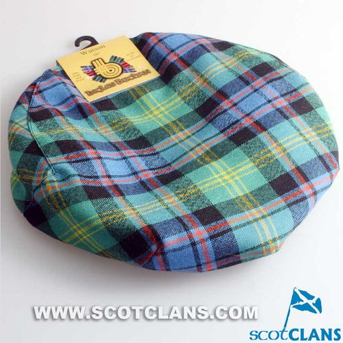Pure Wool Golf Cap in Watson Tartan