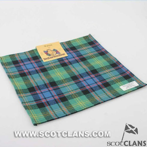 Pocket Square in Watson Ancient Tartan