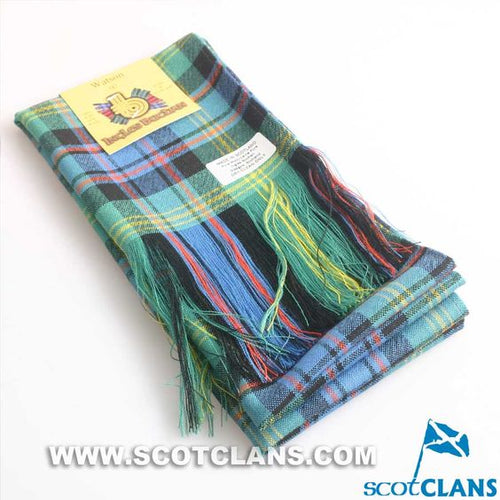 Wool Full Length Sash in Watson Ancient Tartan