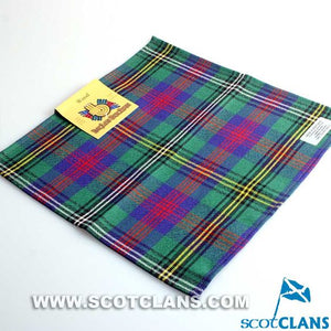 Wool Tartan Pocket Square in Wood Modern Tartan