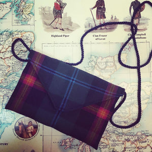 Tartan Clutch Bag ( Morven ) in the Young Tartan