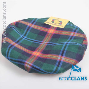 Pure Wool Golf Cap in Young Modern Tartan