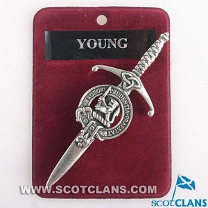 Clan Crest Pewter Kilt Pin with Young Crest