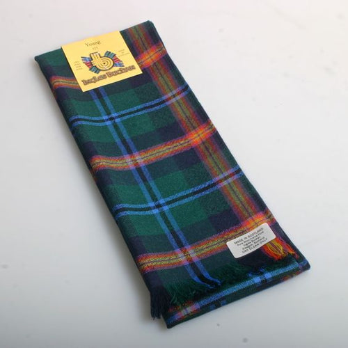 Wool Scarf in Young Modern Tartan