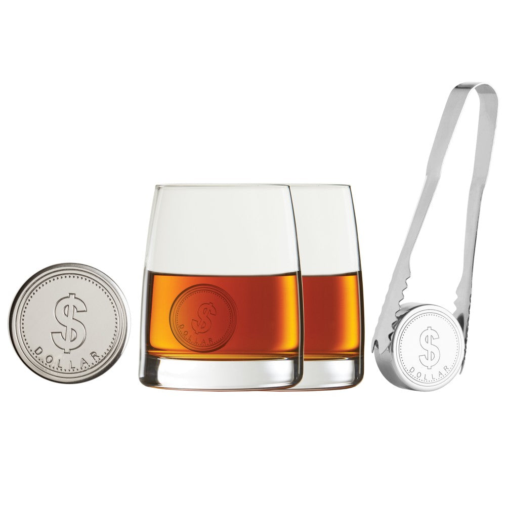 Tandem 6Pc Coin Whiskey Set