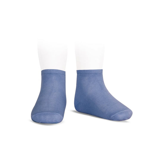 PLAIN STITCH ANKLE SOCKS PORCELAIN