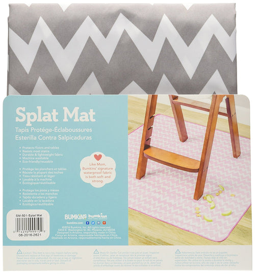 Splat Mat - Grey Chevron