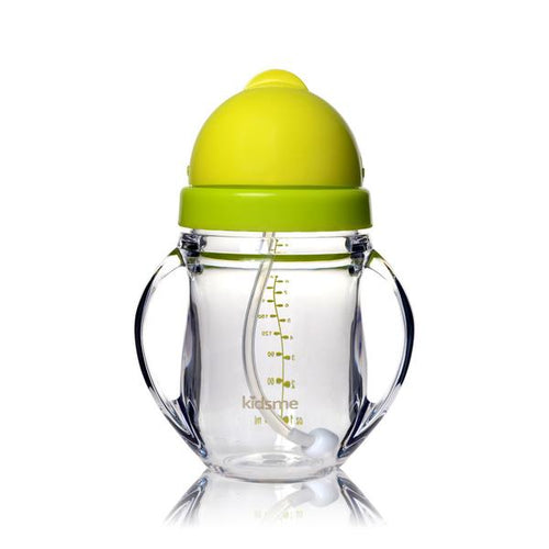 Tritan Training Cup with Weighted Straw Lime