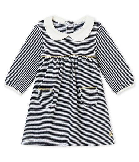 ROBE MILLERAIES À COL BÉBÉ FILLE - Nouvelle Collection H18