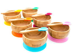 Baby Bamboo Suction Bowl+Spoon