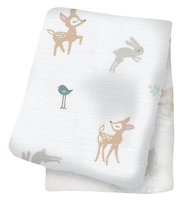 Cotton Muslin Swaddle - Little Fawn