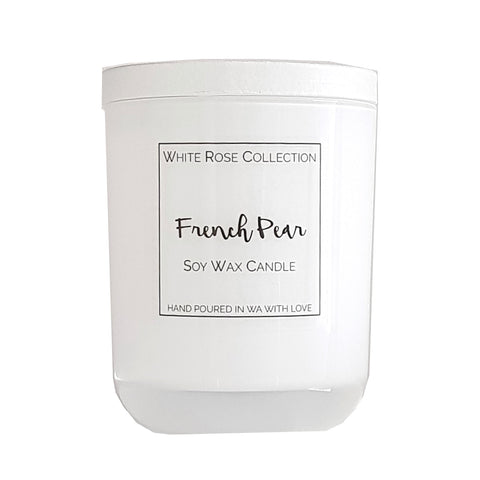 White Glass Jar - Medium