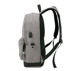 Sac à dos port USB gris