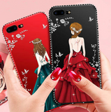 VIVO Rhinestone Beautiful Girl protective Case