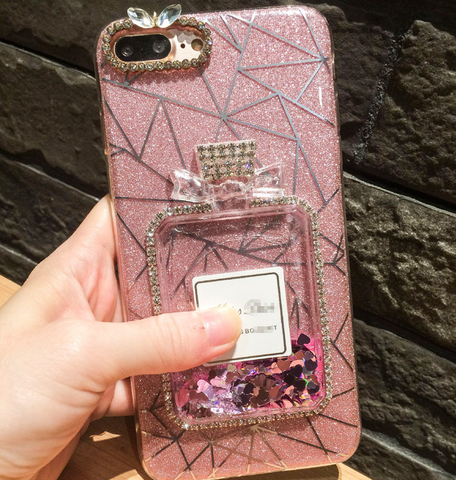 OPPO Rhinestone flash Perfume Quicksand Case