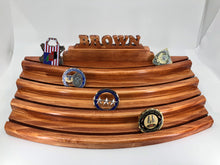 Four Tier Challenge Coin Display with 3D Name Cutout
