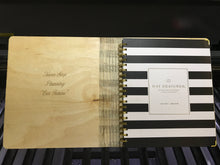 Laser Engraved Wood Notebook Cover