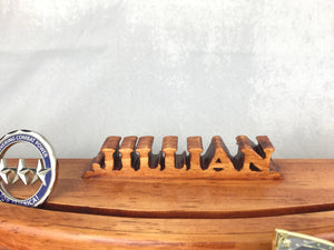 Challenge Coin Display 3D Name Cutout